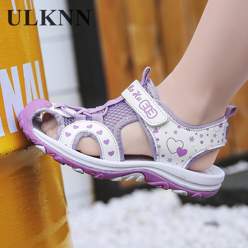 Sandals Girls Closed-toe Sports Kids Beach Shoes