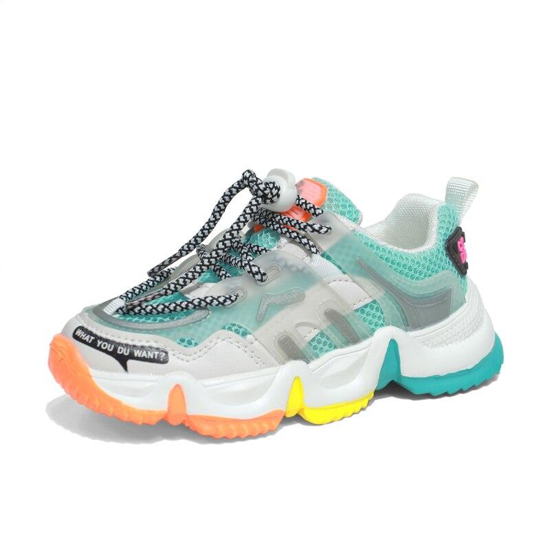 Girls Boys Rainbow Breathable Mesh Sport Sneakers Summer