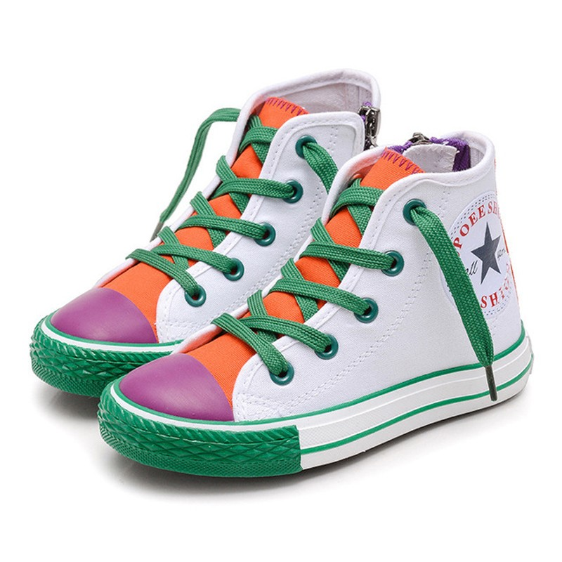 Canvas Kids Sneakers Patchwork Baby Toddler Shoes