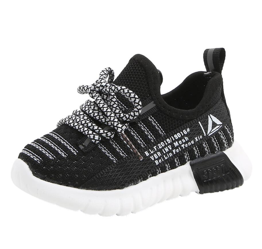 Boys Girls Baby Breathable Mesh Canvas Sneakers Running Shoes Autumn