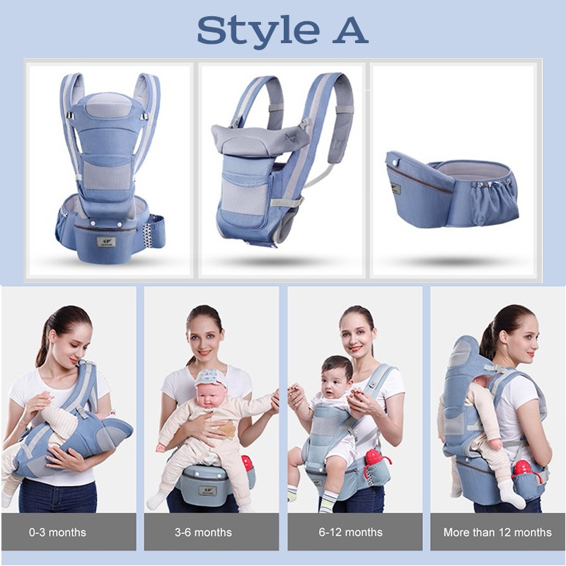 MissAbigale Ergonomic Baby Carrier Infant Baby Hipseat 0-36M