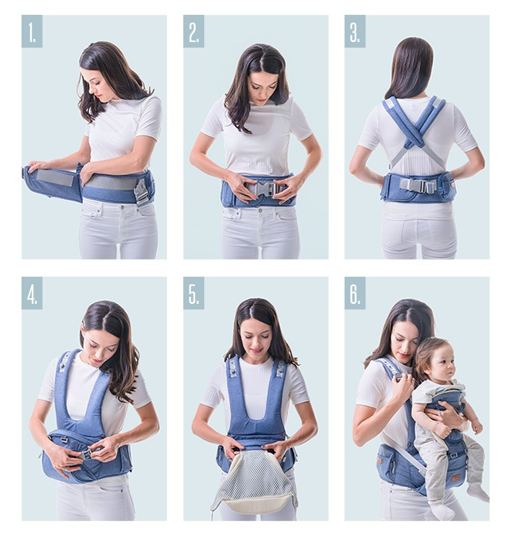 SUNVENO Ergonomic Baby Carrier Infant Baby Hipseat 0-36M