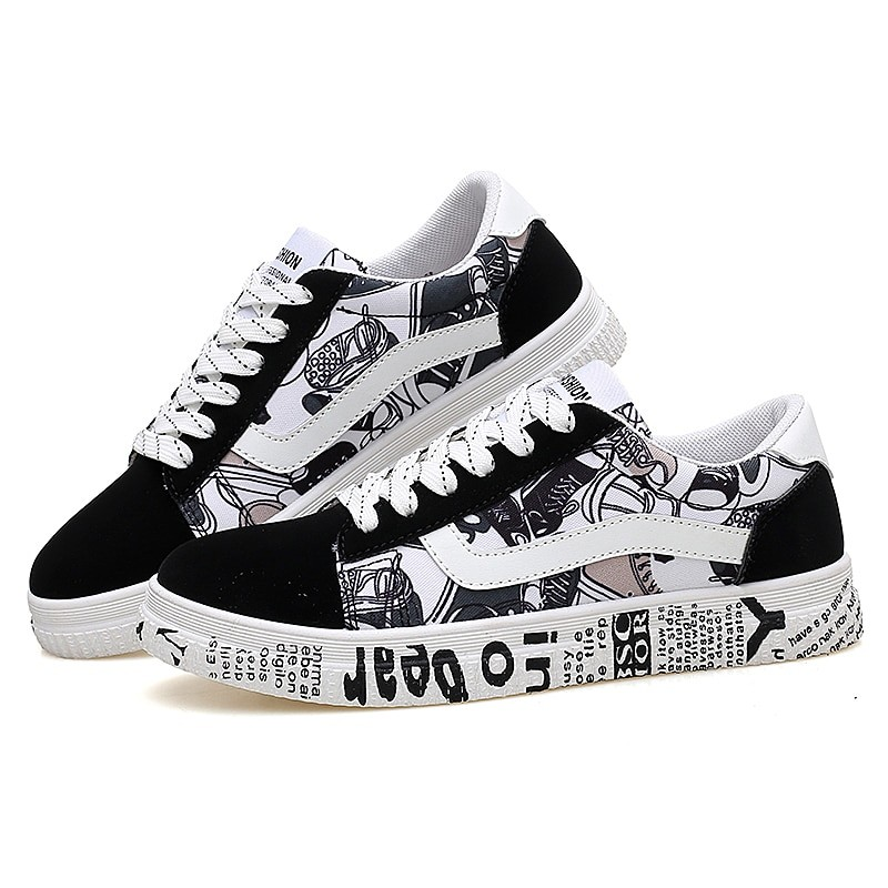 Summer Woman Sneakers White Casual Printing Fashion Shoes