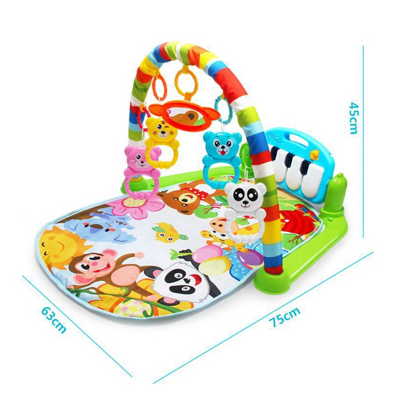 Baby Soft Playmat Piano Musical Sleep Lullaby Activity Fitness Gym Mat Kid Sleeping Safety Blanket Christmas Gift for Boy Girl