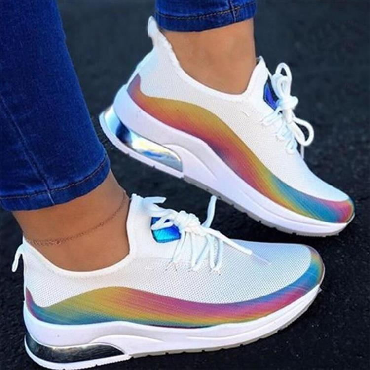 New Sneakers Women Casual Shoes Mesh Air-Cushion Flat Anti-Slip Women Sneakers Outdoor Trainer Female Zapatos De Mujer Shoes