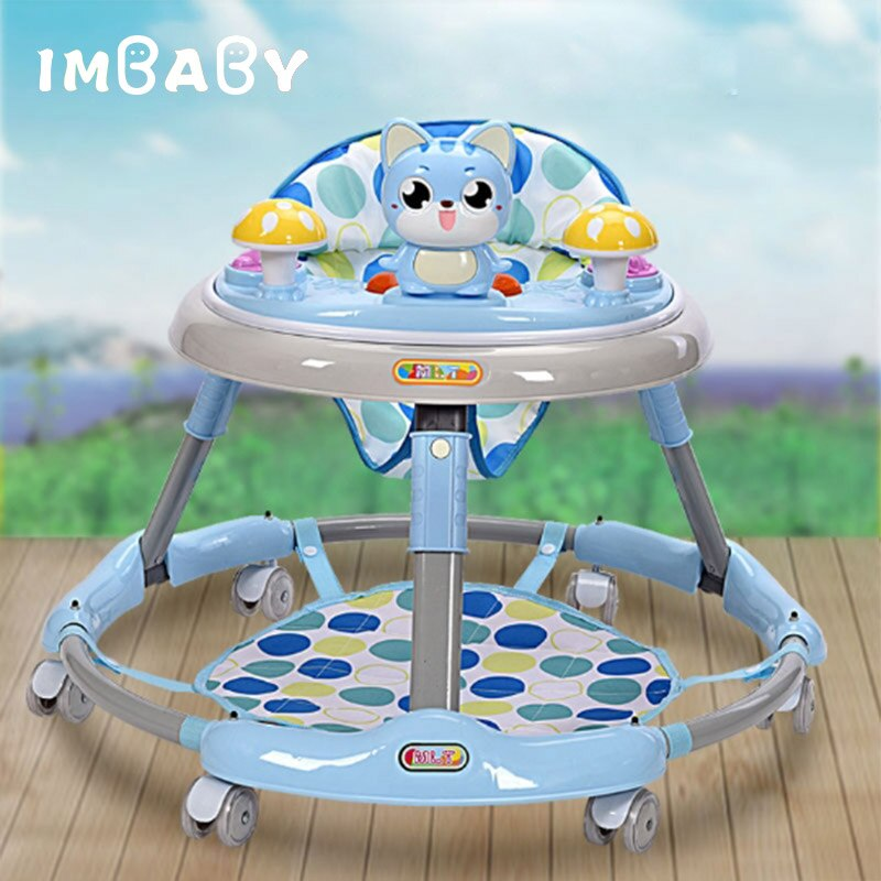 IMBABY Baby Walker With Wheels Andador Walkers for Child Car Toddler Walker for Kids Learning Baby Wallker Music Balance Andador